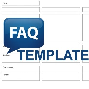 frequently asked questions template