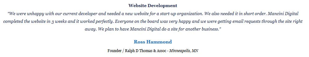 Website Testimonial or Review